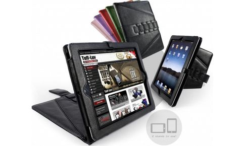 Кожаный чехол Tuff-Luv Tri-Axis Napa Lether Stasis Series для Apple iPad 2 (черный) G2_22